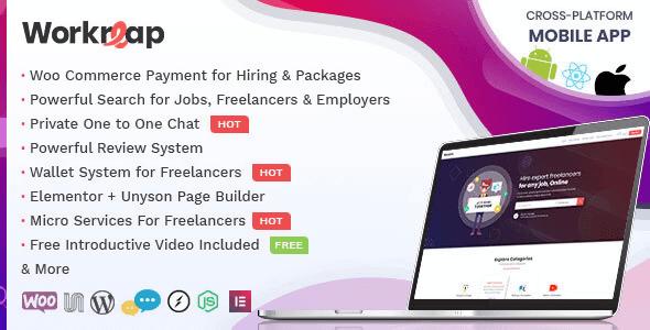 Workreap 2.3.1 – Freelance Marketplace and Directory WordPress Theme