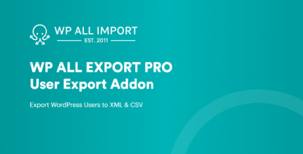 WP All Export User Export Add-On Pro 1.0.4 + 1.0.5b1.0