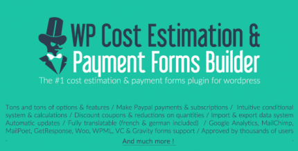 WP Cost Estimation & Payment Forms Builder 9.735 NULLED