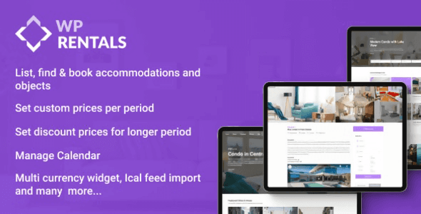 WP Rentals 3.3.2 NULLED – Booking Accommodation WordPress Theme