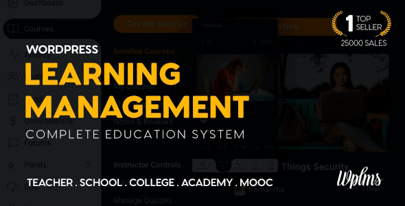 WPLMS 4.097 NULLED – Learning Management System + Demos
