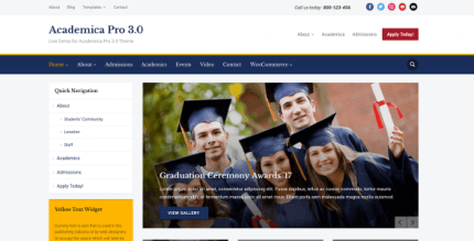 WPZOOM Academica Pro3 3.0.16