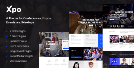 Xpo 1.0 – A Theme for Conferences Expos Events and Meetups