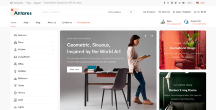 Antares 1.2.1 NULLED – Modern Theme for Furniture and Decor Store