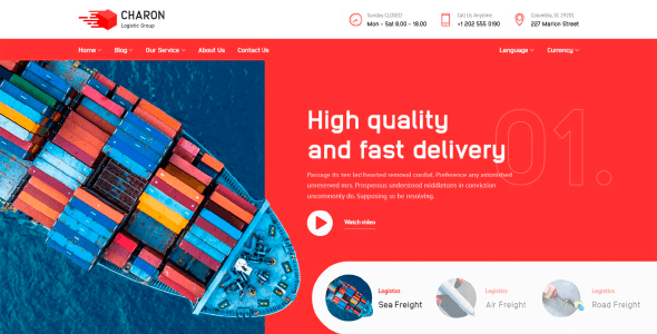 Charon 1.1.0 NULLED – Logistic, Transport and Cargo Company