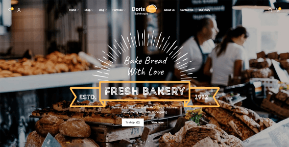 Doris 1.2.1 NULLED – eCommerce Theme for Bakery with Premium Design