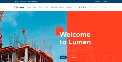 Lumen 1.1.0 NULLED – Multipurpose Theme for Contructions and Architecutre