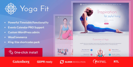 Yoga Fit 1.3.1 – Sports & Fitness WordPress Theme