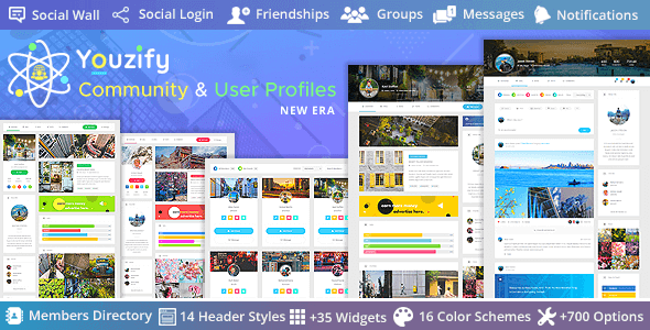 Youzify 3.1.2 – WordPress Community & User Profiles New Era