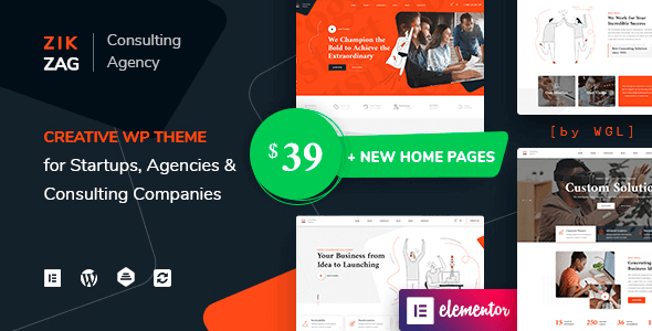 ZikZag 1.1.7 NULLED – Consulting & Agency WordPress Theme