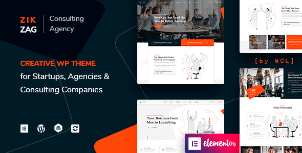 ZikZag 1.1.10 NULLED – Consulting & Agency WordPress Theme