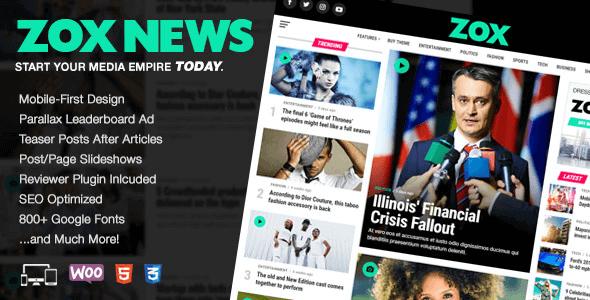 Zox News 3.10.0 NULLED – Professional WordPress News & Magazine Theme