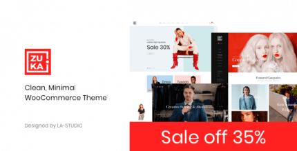 Zuka 1.1.4 – Clean Minimal WooCommerce Theme